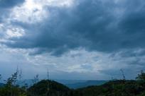 天空中的变换莫测的乌云