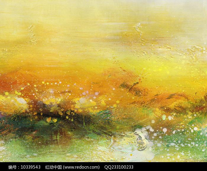 酒店装饰抽象油画图片