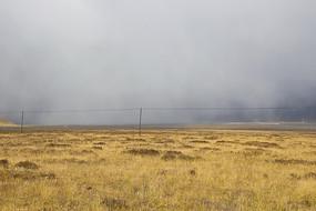 浓雾袭击草原