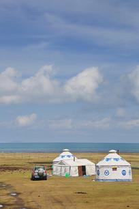 青海湖牧民帐篷