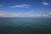 水平海面青海湖