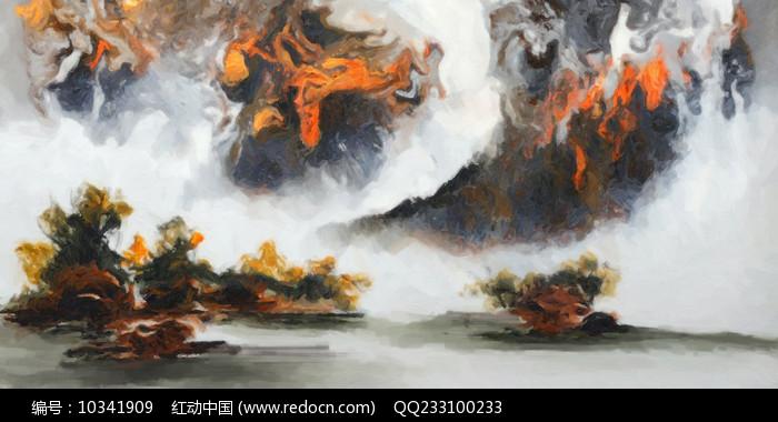 中国风山水风景画图片