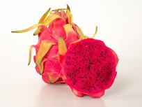 红心火龙果果肉摄影图片