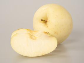 黄金帅苹果果肉摄影图片