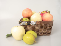 水果篮水果组合摄影图
