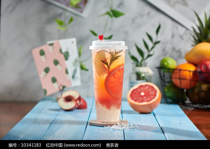 桃气香柚图片