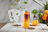 甜橙柚子冰咖
