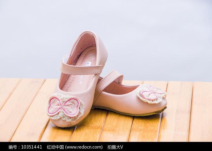 女童粉色浪漫鞋子图片
