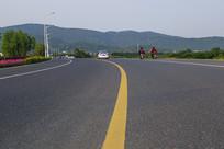 山村道路素材