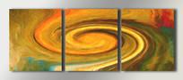 现代三联手绘无框画