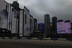 重庆市区灯光夜景