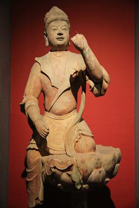 彩塑供养菩萨像