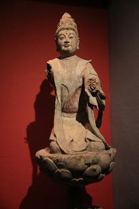 彩塑供养菩萨像唐代