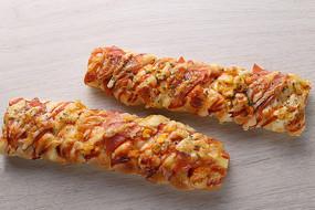 火腿片玉米现烤面包
