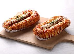 热狗现烤面包