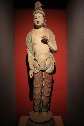 唐代彩塑菩萨立像