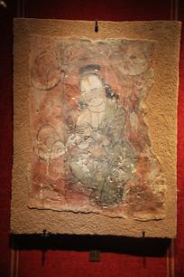 天梯山彩绘菩萨像