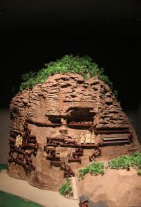 天梯山石窟模型