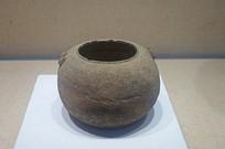 春秋战国印纹硬陶麻布纹罐