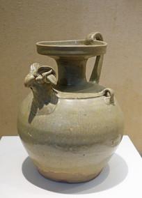 西晋婺州窑青瓷羊首壶
