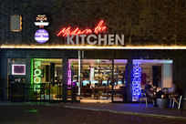 餐饮店的霓虹灯