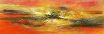 床头抽象油画装饰画