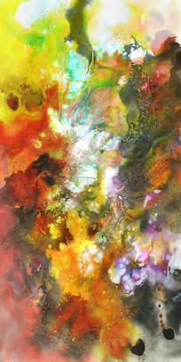 抽象现代地毯画