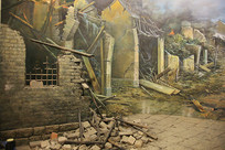 日军轰炸后场景复原局部