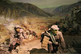 直罗镇红军战士战斗蜡像