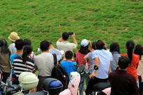 围观人群背影