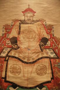皇太极全身坐像清代