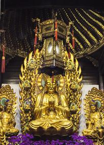 中国宗教文化寺庙佛主金身摄影