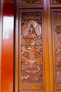 佛像门板雕花