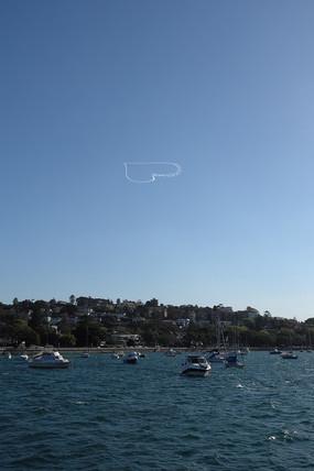 悉尼飞机比心