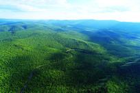 大兴安岭森林公路景观(航拍)
