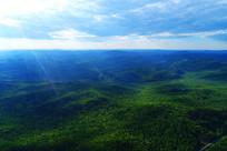 航拍大兴安岭绿色森林