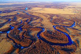 早春海拉尔河湿地河湾
