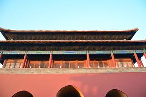 故宫博物院的城门楼