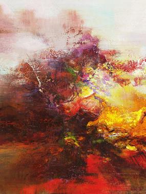 玄关抽象壁画