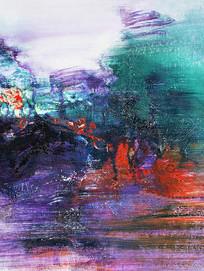 大堂抽象油画