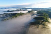 大兴安岭山林云雾