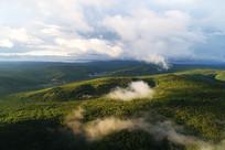 大兴安岭原始森林云雾