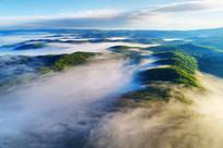 航拍大兴安岭山林云海风光