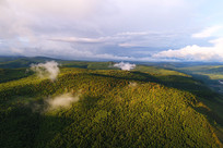 航拍大兴安岭原始森林