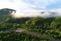航拍山林云雾风景