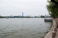 济南大明湖天然湖泊