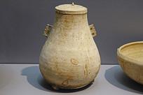 战国早期原始青瓷带盖弧腹壶