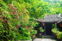 一片花香季节的复古小院
