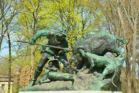 柏林普鲁士皇家狩猎活动雕塑