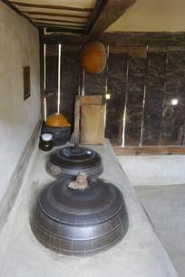 朝鲜时代传统韩屋的厨房灶台